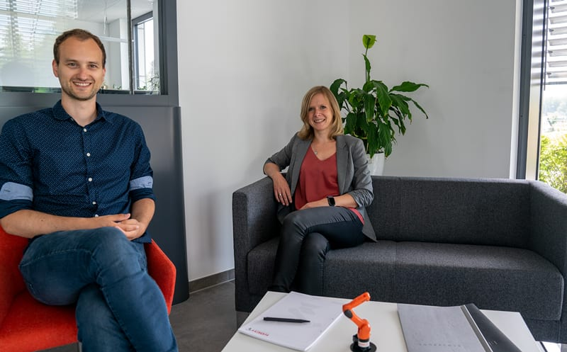 Personalreferenten Christine Noll und Robert Heinichen